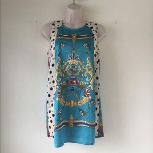 Regal Print Mini Dress by River Island